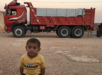 Distribution d'aide alimentaire à Alep Septembre