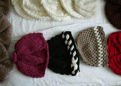 Bonnets en crochet