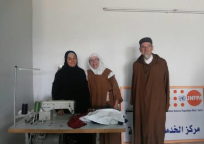 Amitié franco-syrienne lors d'un atelier couture