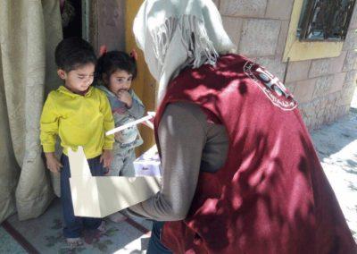 Distribution aux enfants